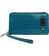 billetera azul leblu