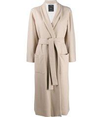 canessa longline wrap coat - neutrals
