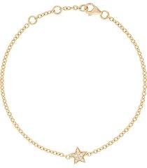 alinka 18kt yellow gold stasia mini star diamond bracelet - metallic