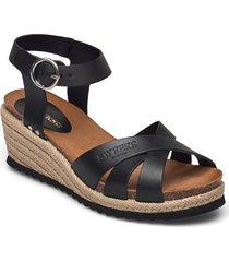 selma sandalette med klack espadrilles svart sweeks