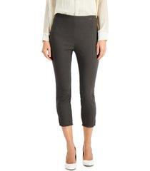 alfani plus size fringed-hem solid ankle pants, created for macy's