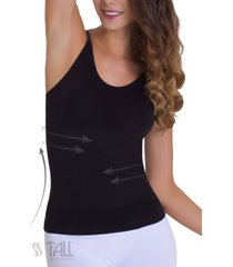 camiseta control invisible tiras negro tall