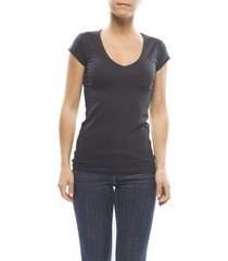 claesens ladies t-shirt v- neck s/s navy
