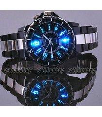 ohsen ho luxury waterproof sports wat 7 multi-color led light clock watch oh02 r