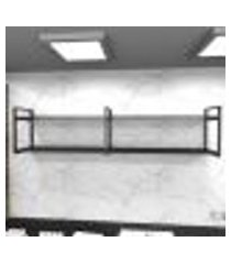 prateleira industrial lavanderia aço cor preto 180x30x40cm cxlxa cor mdf preto modelo ind40plav