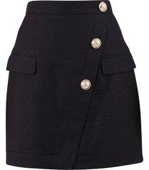 balmain wrap style skirt