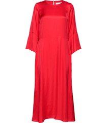 courtneyiw long dress knälång klänning röd inwear