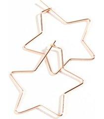 kora star hoops - rose/gold