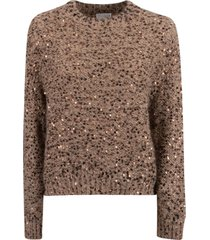 brunello cucinelli bead embellished sweater