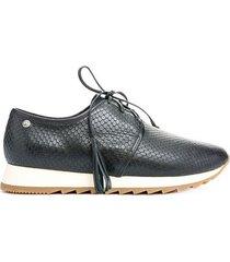 zapatos nilo de cuero con cordón para mujer