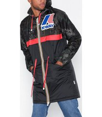 k-way le vrai remake 175 padded graphic jackor camo