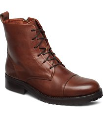 ave lace up boot shoes boots ankle boots ankle boot - flat brun royal republiq