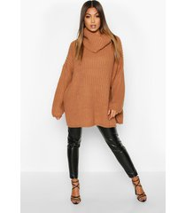 grove oversized boyfriend-trui, toffee
