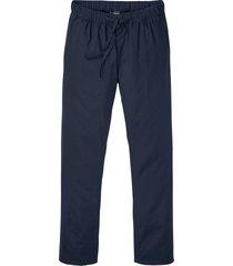 pantaloni in misto lino con elastico in vita slim fit straight (blu) - rainbow