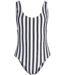 striped boca one-piece swimsuit