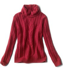 donegal cable turtleneck sweater