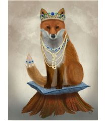 "fab funky fox with tiara, full canvas art - 19.5"" x 26"""