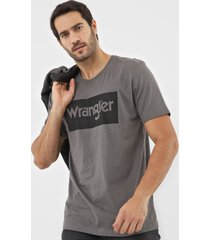 camiseta wrangler logo cinza - kanui