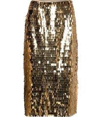 day plates knälång kjol guld day birger et mikkelsen