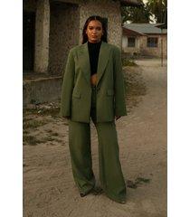 oumayma x na-kd oversize blazer - green