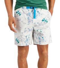 """sun + stone men's belted tie die 7"""" shorts, created for macy's"""