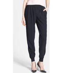 women's joie 'mariner b.' track pants, size large - black