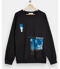 mens midnight sweatshirt in black