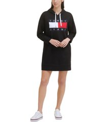 tommy jeans flag hoodie dress