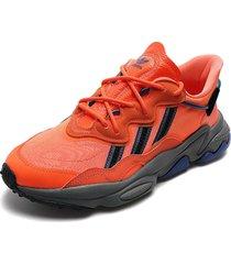 tenis lifestyle naranja adidas originals ozweego