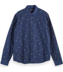 scotch & soda amsterdams indigo shirt 157517 0217