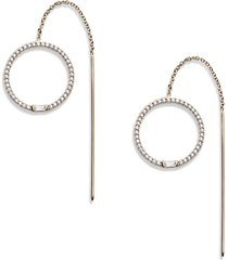 women's nadri mercer pave circle threader earrings