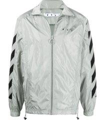 diagonal stripe track jacket