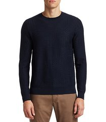 collection textured wool blend sweater