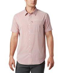 columbia men's twisted creek ii moisture-wicking upf 30 stripe shirt
