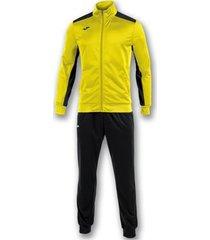 trainingspak joma academy geel-zwart trainingspak