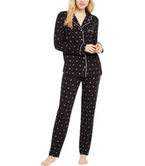 alfani printed super-soft pajama set, created for macy's