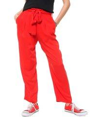 pantalón rojo desiderata relax