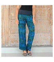 rayon batik pants, 'kenanga' (indonesia)