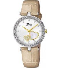 reloj bliss beige lotus