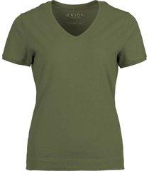 t-shirt basis groen