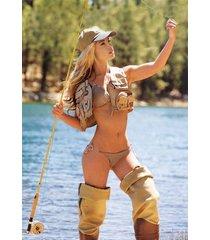 fishing in waders tan bikini    2.5 x 3.5 fridge magnet