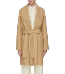 'maddy' shawl collar belted wrap coat