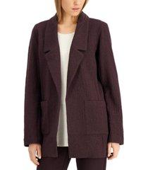 eileen fisher notch-collar jacket