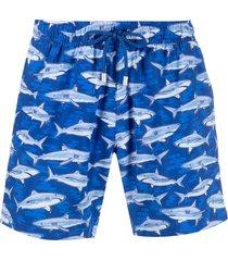 bluemint shark-print swim shorts