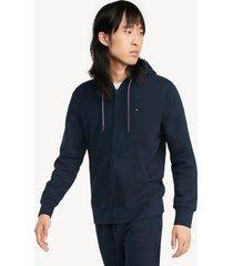 tommy hilfiger men's essential zip hoodie navy blazer - xs