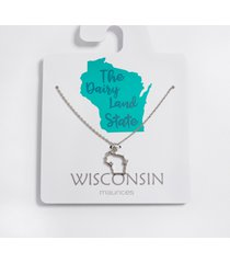maurices womens dainty wisconsin state necklace gray