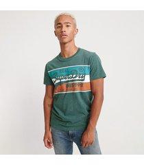 camiseta para hombre vintage logo racer panel tee superdry