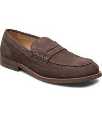 hilfiger suede loafer loafers låga skor brun tommy hilfiger