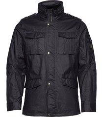 jamie canvas field jacket tunn jacka svart jofama