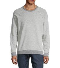 mills supply men's crewneck cotton-blend sweatshirt - grey heather - size s